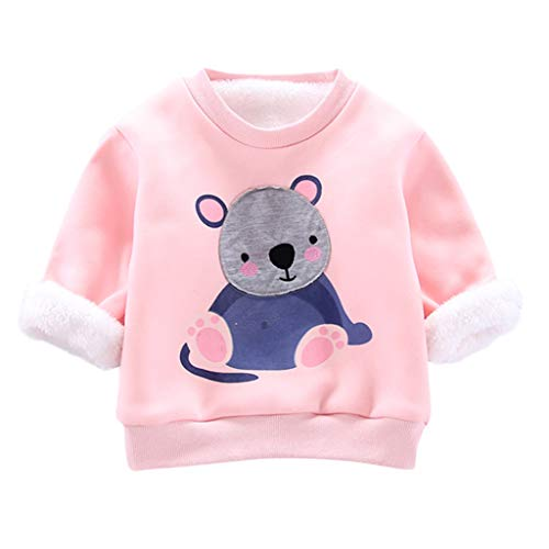 wuayi Sweats Bébé Fille Garçon Plus Velours Koala Manches Longues T-Shirts Tops Pullover Hiver