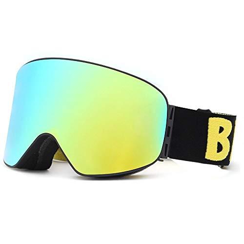 T-ara Ciencia más reciente Nuevas gafas de esquí ligeras de esquí de clase cilíndrica Cómodo de llevar (Color : 6, Size : 220 * 100mm)