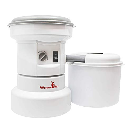 Powerful Electric Grain Mill Grinder for Home and Professional Use - High Speed Electric Flour Mill Grinder (Renewed)