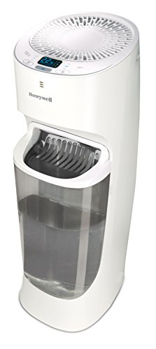 Honeywell Top Fill Tower Humidifier with Digital Humidistat White Auto Shut-Off, Variable Settings, Digital Humidistat & Removeable Top Fill Tank for Large Rooms, Bedroom, Baby Room