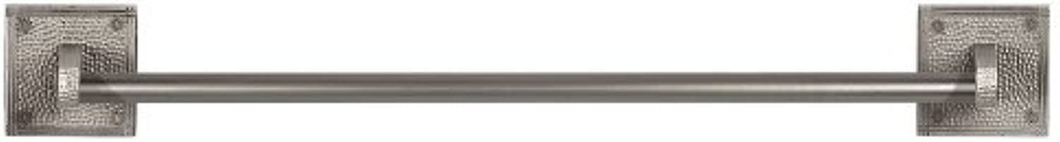 The Copper Factory CF132SN Solid Copper 24-Inch Towel Bar with Square Backplates, Satin Nickel