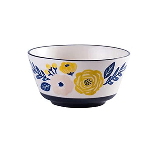 Soepkom Huishoudelijke Pastakom, Creatieve Soepkom Grote Capaciteit, Gemakkelijk Schoon Te Maken, Ambachtelijk Onderglazuur, Geschikt Voor Salades, Noedels(Color:blauw)