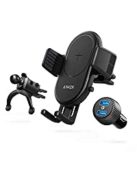 Anker Wireless Charger PowerWave 7.5 Car Charger with Air Vent Phone Holder iPhone, Galaxy the Quick Charge Car Charger Included