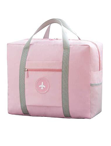 Bolsas de Viaje, Naropox Easy Packing Bag Bolsos de Equipaje Plegable Mano de Embarque, Paquete de Gran Capacidad Estuche Impermeable Caja de la Carretilla de la Bolsa (Rosa)