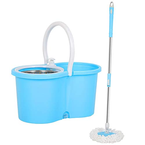 For Sale! QYLSH 360 ° Rotating Mop Mop/Stainless Steel Bucket 45x25x22.5cm, with A Microfiber Floor...