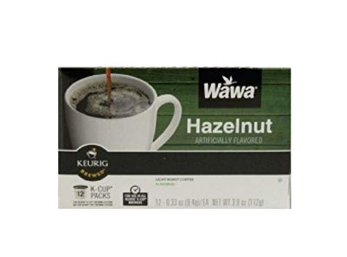 Wawa Coffee Single serve cups for Keurig K-Cup Brewers (Hazelnut) 0.37oz 12 count