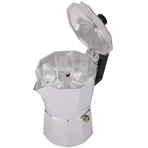 Café Moka Pot - Capacidad de 3 Tazas de Aluminio portátil, Adecuado para su Uso Dentro y Fuera de la Puerta, Monsteramy