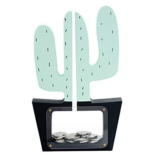 Waineg Hucha en forma de cactus, caja de monedas, mejor opción para Navidad, Año Nuevo, cumpleaños, inauguración de la casa