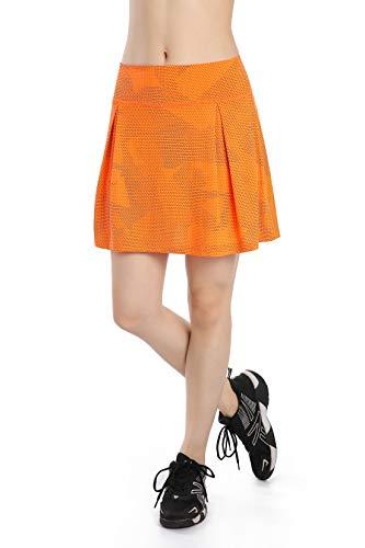 Nidalee Jupe de golf pour femme avec poches -  Orange -...