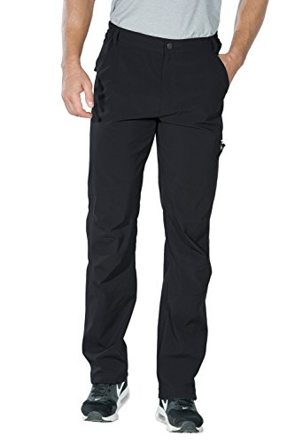 Nonwe Men's Outdoor Light Weight Quick Dry Hiking Pants Black L/32 Inseam