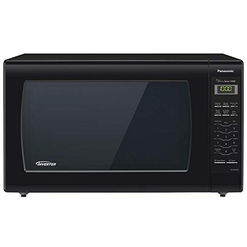 Panasonic Microwave Oven NN-SN936B Black Countertop with Inverter Technology and Genius Sensor, 2.2 Cu. Ft, 1250W (Renewed)