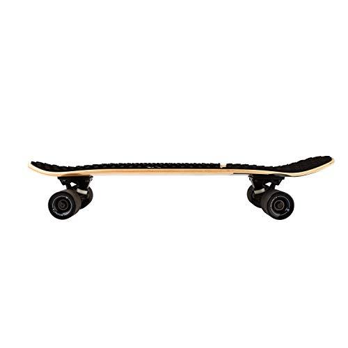 Magneto Barefoot Mini Cruiser Skateboard Canadian Maple Deck Teens and Adults Barefoot Designed for Kids Short Board EVA Stomp Pad Grip Tape