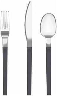 comprar comparacion IKEA OSTRON Juego de cubiertos de acero inoxidable, 12 piezas, color gris