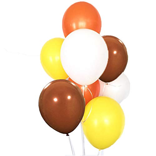 60 Pack Orange Yellow Brown White Balloon Arch Garland Fall Autumn Birthday Wedding Backdrop Harvest Thanksgiving Party Centerpieces Nursery Decoration