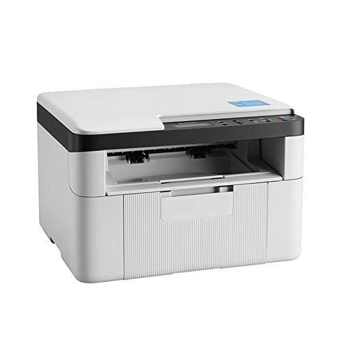 Kantoorprinter, Zwart-wit drie-in-één printer, Kopieer/scan/Print/Wifi alles-in-één machine, Office School Home multifunctionele printer,White
