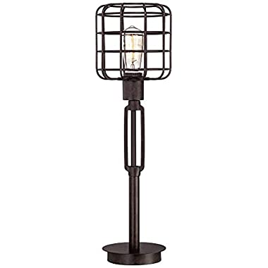Franklin Iron Works Industrial Cage Accent Lamp
