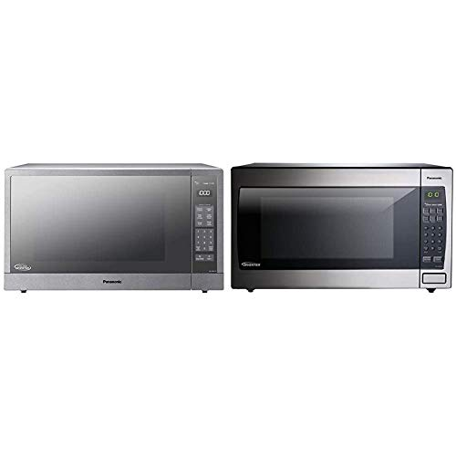 Panasonic Microwave Oven & Microwave Oven NN-SN966S Stainless Steel Countertop/Built-In with Inverter Technology and Genius Sensor, 2.2 Cubic Foot, 1250W