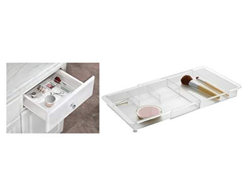 iDesign Make-up Organizer, ausziehbare Schubladenbox aus Kunststoff, Schubladeneinsatz für Schminktischzubehör und Badutensilien, durchsichtig