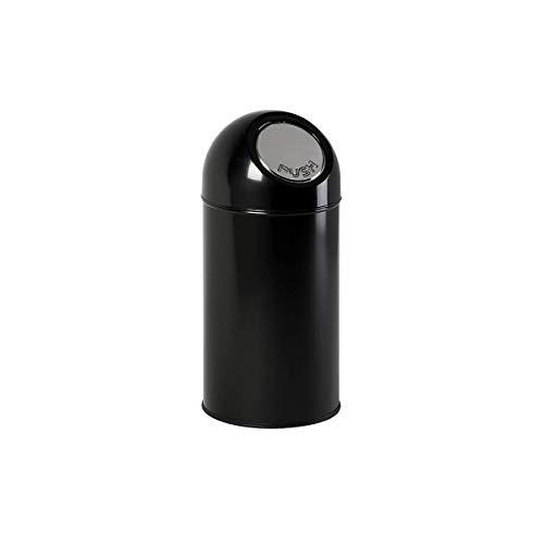 V-part poubelle avec pushdeckel noir 40 litres