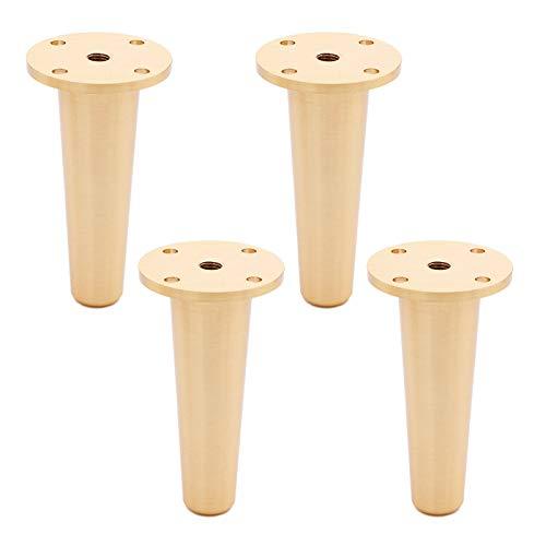 YFYF Patas para Muebles Ajustables, Patas De Mesa De Muebles De Latón Fácil De Instalar Capacidad De Carga 1000kg para Armarios, Sofás, Muebles De TV, 4 Piezas (Size : 15cm)