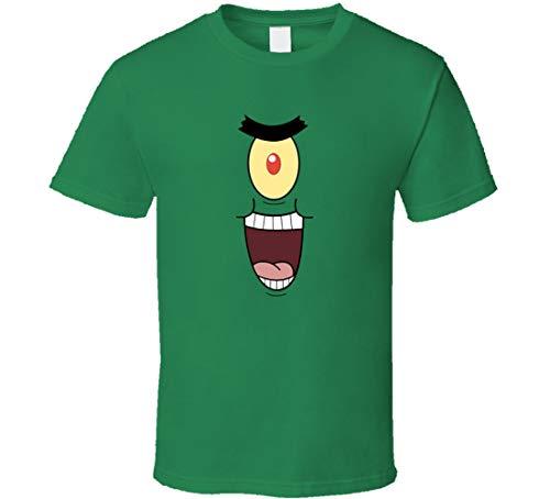 YAOJIN Plankton Evil Laugh Disfraz de Bob Esponja Camiseta Verde Irlands