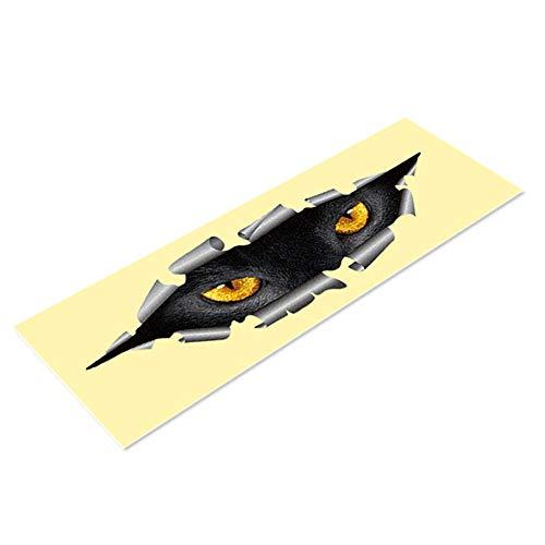Ndier 3D Divertido Anti-Reflective Gato Ojos Auto Decorativo para Camiones Cabeza motorrüc kspiegel fensterabdeckung Puerta Adhesivo Graphics M Auto Accesorios