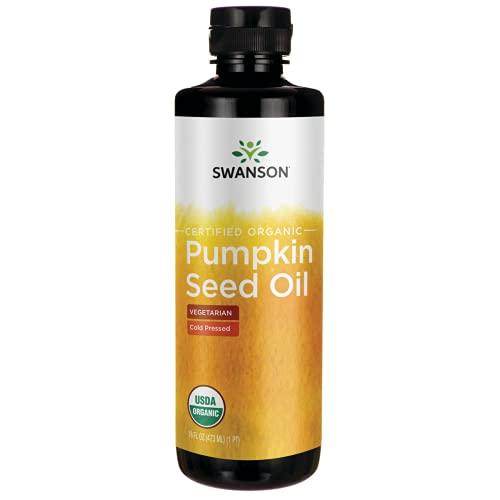 Swanson Certified Organic Pumpkin Seed Oil - Cold Pressed 16 fl oz Liquid