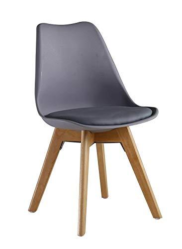 KOSY KOALA 6 sillas de comedor acolchadas gris (6 sillas grises)