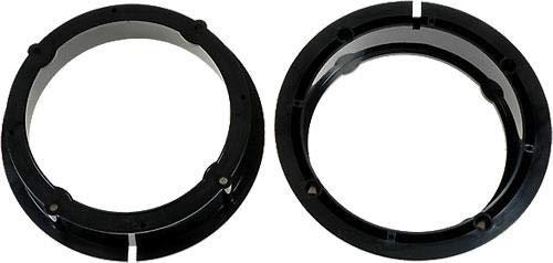 Caliber RAS3204 Noir support de haut-parleurs - supports de haut-parleurs (Noir, SEAT Leon 2005, Toledo 2005 / SKODA Fabia/VW Golf IV, Passat 1997, Bora, 165 mm, 165 mm)