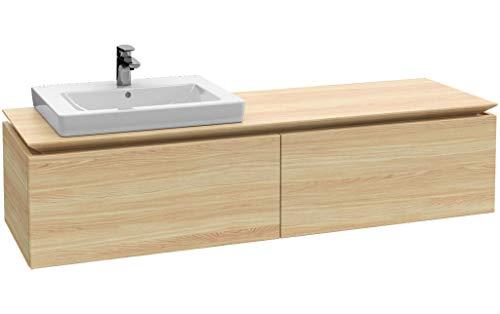 Villeroy & Boch Legato Waschtischunterschrank B11760, 1600x380x500mm, Waschtisch Links, Farbe: White Matt
