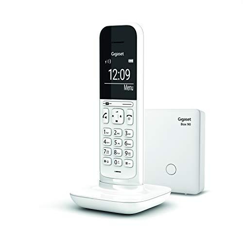 """Gigaset CL390 Telefono Cordless, Funzione Black List e """"Non disturbare"""", Vivavoce, Display Ampio, Bianco, Standard [Versione Italiana]"""