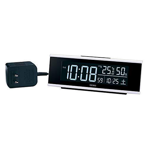 セイコークロック 置時計 電波 デジタル 交流式 カラー液晶 シリーズC3 白 63×174×46mm DL307W