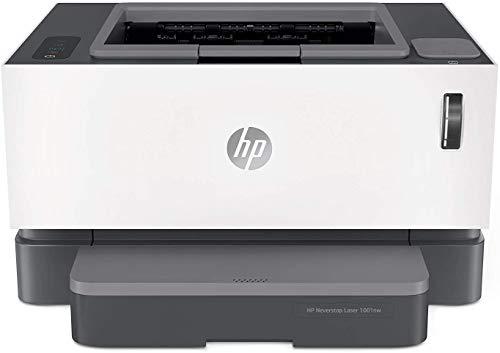 HP Neverstop 1001nw 5HG80A, Stampante Laser A4, a Singola Funzione, con Serbatoio Toner a Ricarica Rapida, Wi-Fi, USB, Ethernet, Velocità 20 ppm, HP Smart, HP Smart Task, Bianca