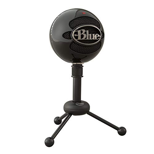 Blue Microphones Snowball - Micrófono USB  con dos patrones de captación versátiles y diseño óptimo y retro para grabación, transmisión y podcasting en PC y Mac, color Negro