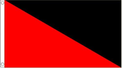 Anarchie anarcho-communism anarchosyndikalismus 3'x2' Flagge (90x 60cm)