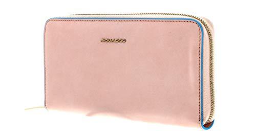 PIQUADRO Blue Square Zip-Around Women´s Wallet RFID Rosa Chiaro