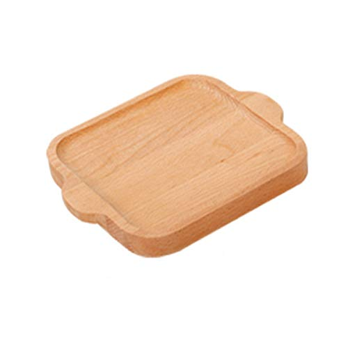 Bandeja, Bandeja Madera para Serving Tea & Breakfast With Handles, Cafe Bandejas Gama Café Creme, 32 x 18 x 2 cm