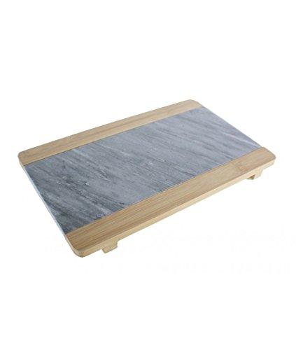 Cal Fuster – Planche à découper en bambou et marbre naturel. Dimensions : 2 x 30 x 19 cm