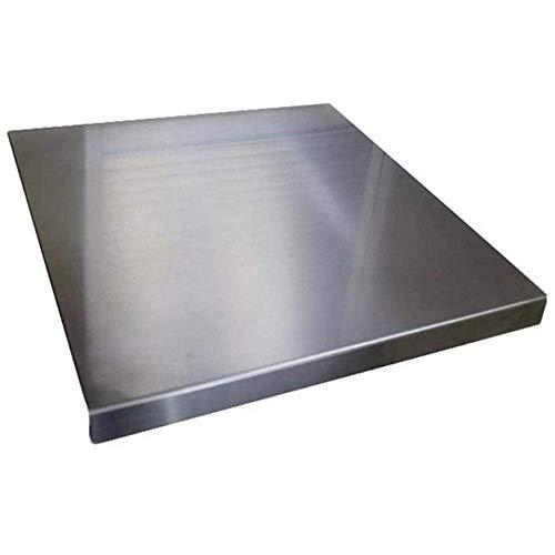 ZeroInox Tagliere Acciaio Inox Professionale (Tutte Le Misure) Piano Lavoro Cucina Uso Alimentare spianatoia per impastare Pane Pizza Antiscivolo (70x60)