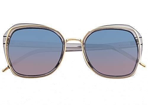 Bertha Jade Metal Square Polarized Damen Sonnenbrille BRSBR042, BRSBR042GY, Gold, BRSBR042GY