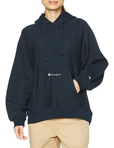 [チャンピオン] パーカー 綿100% スクリプトロゴ リバースウィーブ フーデッドスウェットシャツ CW-T101 レディース ネイビー M