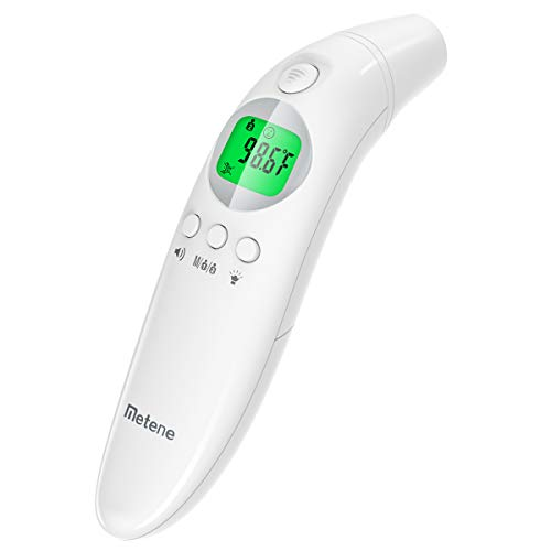 【New 2020 Version】Medical Ear Thermometer with Forehead Function, 32 Set Memory Records with Fever Alarm,Digital Infrared Temporal Thermometer for Fever, Instant Accurate Reading for Baby and Adults