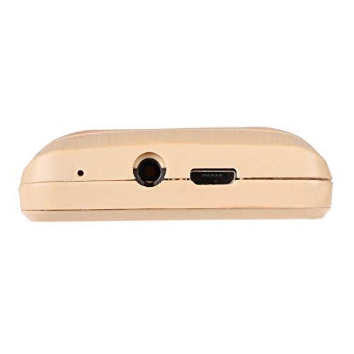 iAir Basic Feature Dual Sim Mobile Phone with 1000mAh Battery, 1.77 inch Display Screen, 0.8 mp Camera (IAIRFPD6, Gold)