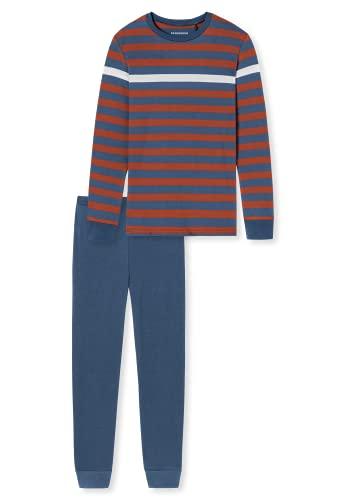 Schiesser Jungen Langer Schlafanzug-Organic Cotton Pyjamaset, Mehrfarbig 7, 164