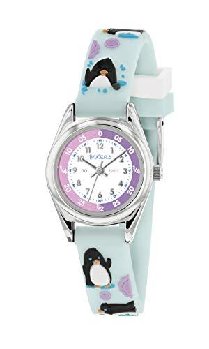 Tikkers Unisex Kinder Analog Quarz Uhr mit Silikon Armband TK0182