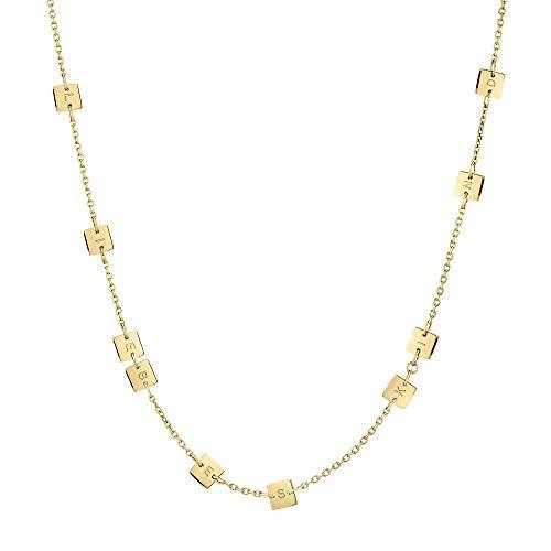 Liebeskind Berlin Halskette mit Spiegelplättchen aus Edelstahl IP Gold LJ-0580-N-42