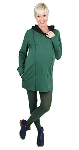Be! Mama - 2in1 Umstandspullover, Sweatshirt, Stillpullover, Modell: Blur, grün, Größe S/M