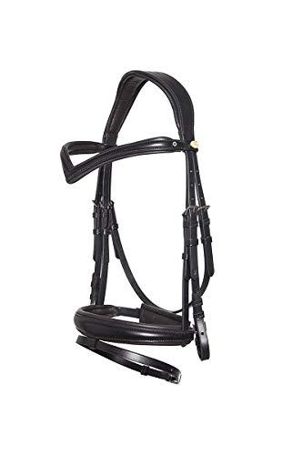 Horse & Passion 920037/11786 Cabezada de Montar, Color Negro, Talla única