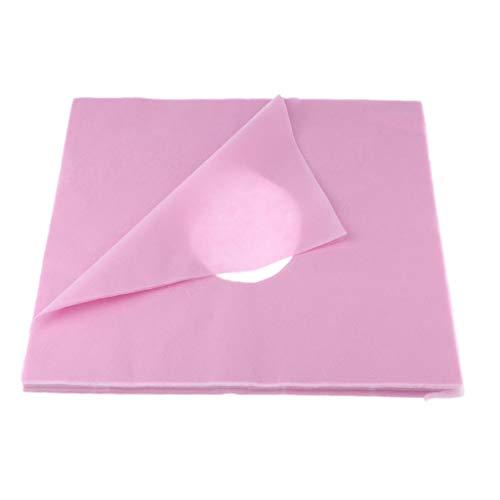 B Baosity 100Pcs Massageliegen Nasenschlitztücher Atmungsaktive, Hygieneauflagen für Kopfstützen von Massagestühlen & Massagetischen - Pink, C.