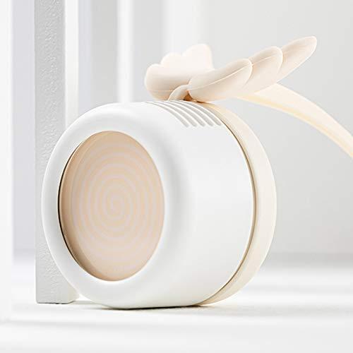 Lazy - Ventilador USB para colgar en el cuello, apto para dormitorio, sala de estar, oficina, dormitorio (3 colores opcionales), color blanco
